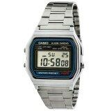 ราคา Casio นาฬิกาข้อมือผู้ชาย สีเงิน สายสเตนเลส รุ่น A158Wa 1Df Casio