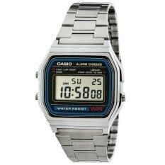 ราคา Casio นาฬิกาข้อมือผู้ชาย สีเงิน สายสเตนเลส รุ่น A158Wa 1Df ใน กรุงเทพมหานคร