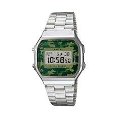 โปรโมชั่น Casio นาฬิกาข้อมือผู้ชาย รุ่น A168Wec 3Df สีเงิน ถูก
