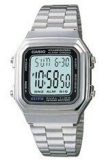 ราคา ราคาถูกที่สุด Casio นาฬิกาข้อมือ สีเงิน สายสแตนเลส รุ่น A178Wa 1Adf