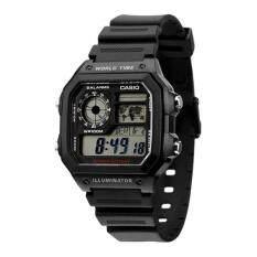 ขาย Casio นาฬิกาข้อมือผู้ชาย หญิง ดิจิตอล สายยางเรซิ่น รุ่น Ae 1200Wh ถูก