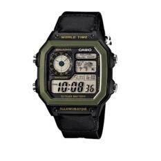 ขาย ซื้อ ออนไลน์ Casio นาฬิกาข้อมือผู้ชาย หญิง ดิจิตอล สายผ้า รุ่น Ae 1200Whb
