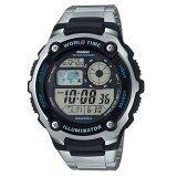 ราคา Casio นาฬิกาข้อมือสำหรับผู้ชาย รุ่น Ae 2100Wd 1Avdf สีเงิน