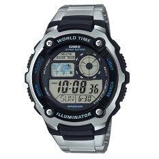 ราคา Casio นาฬิกาข้อมือสำหรับผู้ชาย รุ่น Ae 2100Wd 1Avdf สีเงิน เป็นต้นฉบับ