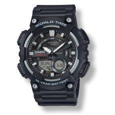 ซื้อ Casio Aeq 110W 1A ของแท้ รับประกันศูนย์ 1 ปี นาฬิกาผู้ชาย สายเรซิ่น ออนไลน์ ถูก