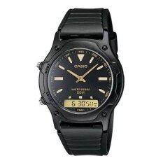 โปรโมชั่น Casio นาฬิกาข้อมือ สายเรซิน สีดำ รุ่น Aw 49He 1Avudf