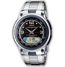 ราคา Casio นาฬิกาข้อมือผู้ชาย Aw 82D 1 สีเงิน ประกันศูนย์ 1 ปี ถูก
