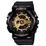ขาย Casio นาฬิกา Baby G สีดำ ทอง สายเรซิ่น รุ่น Ba 110 1Adr ราคาถูกที่สุด