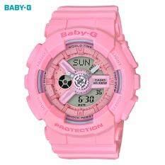 ราคา Casio Baby G นาฬิกาข้อมือผู้หญิง สายเรซิ่น รุ่น Ba 110 4A1 Casio Baby G เป็นต้นฉบับ