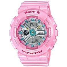 ขาย Casio Baby G นาฬิกาข้อมือผู้หญิง สายเรซิ่น รุ่น Ba 110Ca 4A สีชมพู Casio Baby G เป็นต้นฉบับ