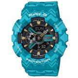 โปรโมชั่น Casio Baby G นาฬิกาข้อมือผู้หญิง สายเรซิ่น รุ่น Ba 110Tp 2A สีฟ้า Casio Baby G
