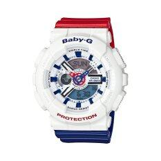 ซื้อ Casio Baby G นาฬิกาข้อมือ รุ่น Ba 110Tr 7Adr สีขาว White ถูก ไทย