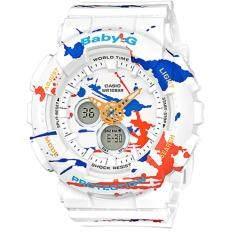 ซื้อ Casio Baby G นาฬิกาข้อมือผู้หญิง สายเรซิ่น รุ่น Ba 120Spl 7A สีขาว กรุงเทพมหานคร