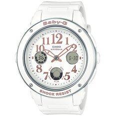 ซื้อ Casio Baby G นาฬิกาข้อมือผู้หญิง สายเรซิ่น รุ่น Bga 150Ef 7B สีขาว ออนไลน์