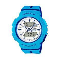 ราคา Casio Baby G นาฬิกาข้อมือผู้หญิง สายเรซิ่น รุ่น Bga 240L 2A2 สีฟ้า ใหม่