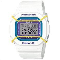 ซื้อ Casio Baby G นาฬิกาข้อมือผู้หญิง สีขาว ม่วง สายเรซิน รุ่น Bgd 501 7B