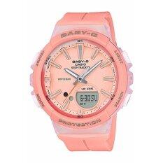 ราคา Casio Baby G นาฬิกาข้อมือผู้หญิง สายเรซิ่น รุ่น Bgs 100 4A สีชมพู เป็นต้นฉบับ