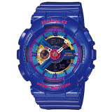 ราคา Casio Baby G นาฬิกาข้อมือหญิง น้ำเงิน สายเรซิ่น รุ่น Ba 112 2Adr ใหม่