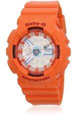 ราคา Casio Baby G นาฬิกาข้อมือผู้หญิง สายเรซิ่น รุ่น Ba 110Sn 4Adr Orange ถูก