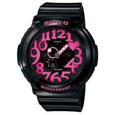 Casio Baby G นาฬิกาข้อมือผู้หญิง สายเรซิ่น รุ่น Bga 130 1B สีดำ ชมพู ใน กรุงเทพมหานคร