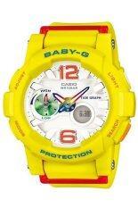 ขาย Casio Baby G นาฬิกาข้อมือผู้หญิง สีเหลือง สายเรซิน รุ่น Bga 180 9Bdr