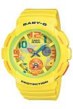 ราคา Casio Baby G นาฬิกาข้อมือผู้หญิง สีเหลือง สายเรซิ่น รุ่น Bga 190 9Bdr ถูก