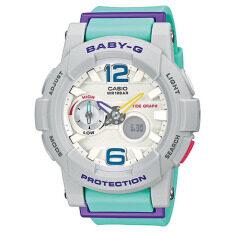 ส่วนลด Casio Baby G นาฬิกาข้อมือผู้หญิง สีฟ้า สายเรซิ่น รุ่น Bga 180 3Bdr Casio Baby G