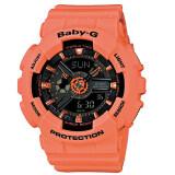 โปรโมชั่น Casio Baby G นาฬิกาข้อมือผู้หญิง สีโอรส สายเรซิ่น รุ่น Ba 111 4A2Dr Casio Baby G ใหม่ล่าสุด