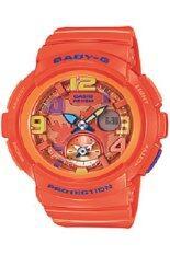 ราคา Casio Baby G นาฬิกาข้อมือผู้หญิง สีส้ม สายเรซิ่น รุ่น Bga 190 4Bdr บุรีรัมย์