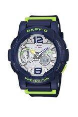 ราคา Casio Baby G นาฬิกาข้อมือ สายเรซิ่น รุ่น Bga 180 2 Blue ราคาถูกที่สุด