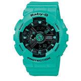 ซื้อ Casio Baby G นาฬิกาข้อมือ สีเขียว สายเรซิ่น รุ่น Ba 111 3Adr ถูก