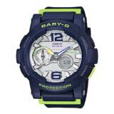 ซื้อ Casio Baby G นาฬิกาข้อมือ สีน้ำเงิน สายเรซิ่น รุ่น Bga 180 2Bdr ใหม่ล่าสุด