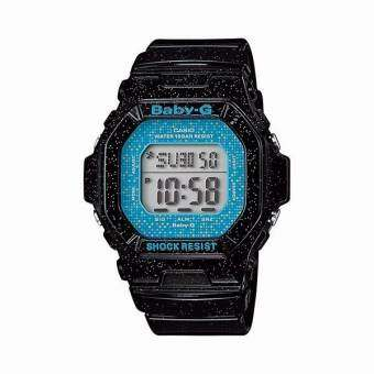 CASIO Baby-G นาฬิกาข้อมือ  standard Digital Black/Blue Resin Strap รุ่น BG-5600GL-1