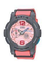ส่วนลด คาสิโอ Baby G นาฬิกาข้อมือผู้หญิงสีเทาสายเรซินสีชมพูนาฬิกา Bga 180 4B2 Casio Baby G ใน ฮ่องกง