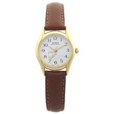 ซื้อ Casio นาฬิกาข้อมือผู้หญิง Brown White สายหนัง รุ่น Ltp 1094Q 7B8Rdf ใหม่ล่าสุด