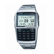 Casio นาฬิกา Databank สีเงิน สายสแตนเลส รุ่น Dbc 32D 1Adf เป็นต้นฉบับ