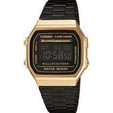 ซื้อ นาฬิกา Casio Digital A168Wegb 1Bdf สีดำทองใหม่ Casio เป็นต้นฉบับ