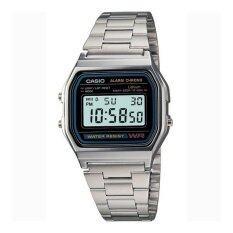 ซื้อ Casio Digital Classic นาฬิกาข้อมือผู้ชาย รุ่น A158Wa 1Df Silver Casio ถูก