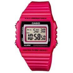ราคา Casio Digital Watch นาฬิกาข้อมือระบบดิจิตอล รุ่น W 215H 4Avdf สีชมพู เป็นต้นฉบับ