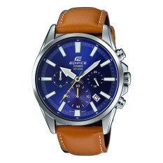 โปรโมชั่น Casio Edifice Chronograph นาฬิกาข้อมือผู้ชาย สายหนัง รุ่น Efv 510L 2A Casio Edifice ใหม่ล่าสุด
