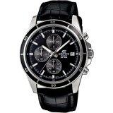 ขาย Casio Edifice นาฬิกาข้อมือผู้ชาย โครโนกราฟ สายหนังแท้ รุ่น Efr 526L 1A Casio Edifice เป็นต้นฉบับ