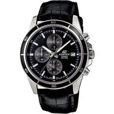 ราคา Casio Edifice นาฬิกาข้อมือผู้ชาย โครโนกราฟ สายหนังแท้ รุ่น Efr 526L 1A Casio Edifice ออนไลน์