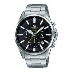 Casio Edifice นาฬิกาข้อมือผู้ชาย สายสแตนเลส รุ่น Efv 510D 1A ใหม่ล่าสุด