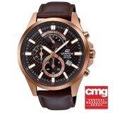 ราคา Casio Edifice นาฬิกาข้อมือผู้ชาย รุ่น Efv 530Gl 5Avudf ใหม่ ถูก