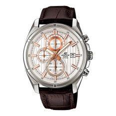 ราคา Casio Edifice นาฬิกาข้อมือชาย รุ่น Efr 532L 7A Brown White เป็นต้นฉบับ