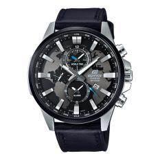 ราคา Casio Edifice นาฬิกาข้อมือผู้ชาย สายหนัง รุ่น Efr 303L 1A ใหม่ ถูก