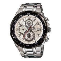ขาย ซื้อ ออนไลน์ Casio Edifice นาฬิกาข้อมือผู้ชาย สายสแตนเลส รุ่น Efr 539D 7A สีเงิน