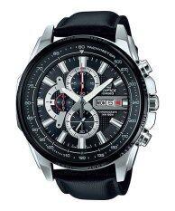 ทบทวน Casio Edifice นาฬิกาข้อมือผู้ชาย สีดำ สายหนัง รุ่น Efr 549L 1Av Casio Edifice