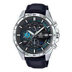 ขาย Casio Edifice นาฬิกาข้อมือผู้ชาย สีดำ สายหนัง รุ่น Efr 556L 1A