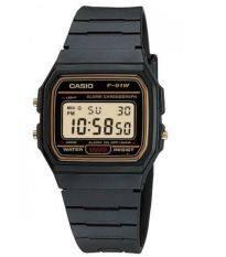 ขาย Casio นาฬิกา ดิจิตอลสายยางดำ ขอบทอง ใส่ได้ทั้ง ชาย หญิง ยอดนิยมNทนทาน รุ่น F 91Wg 9Qdf ดำ ทอง Casio ผู้ค้าส่ง